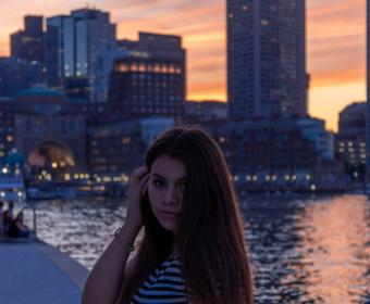 gabby @ sunset at seaport