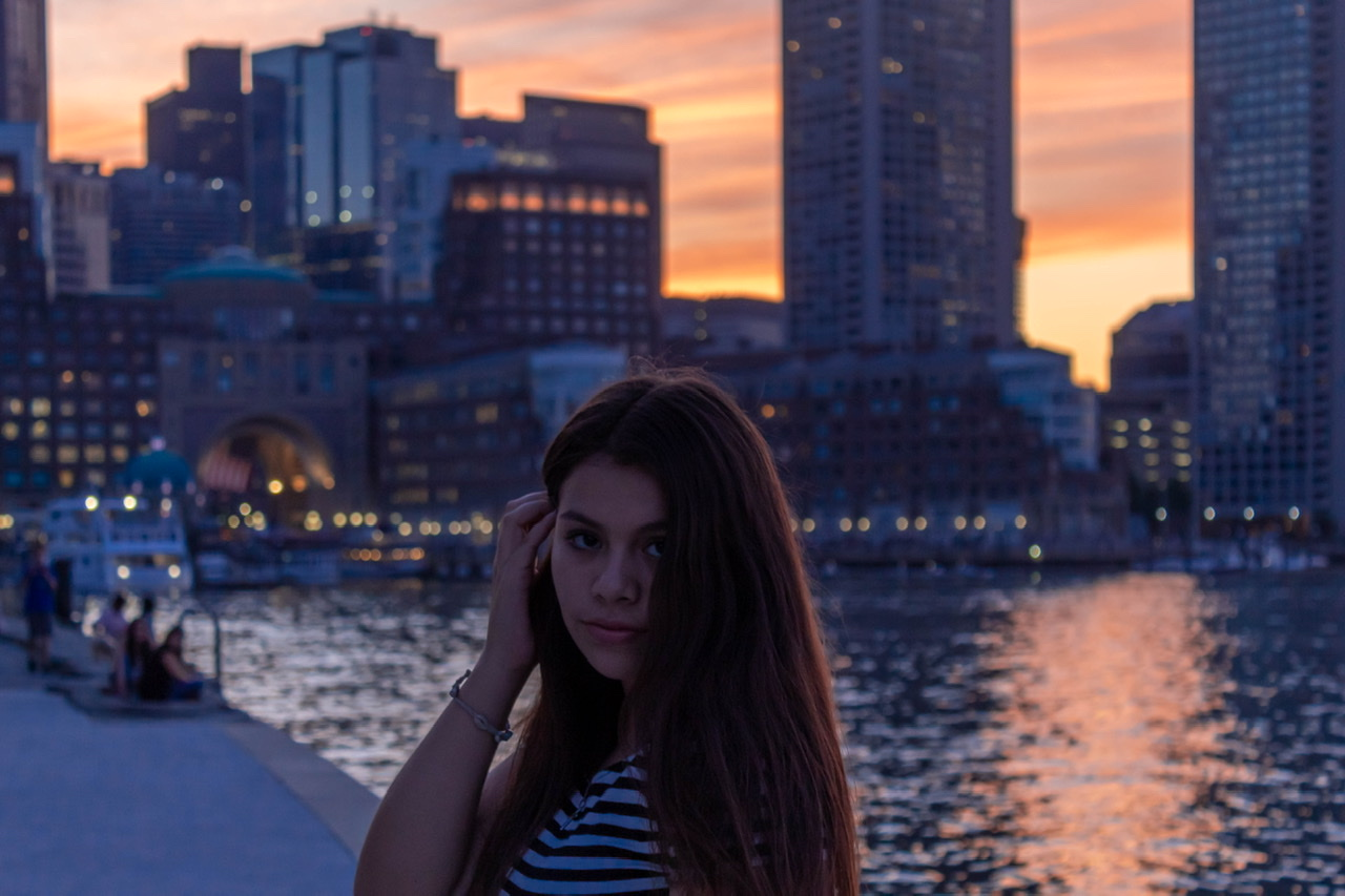 gabby @ sunset at seaport