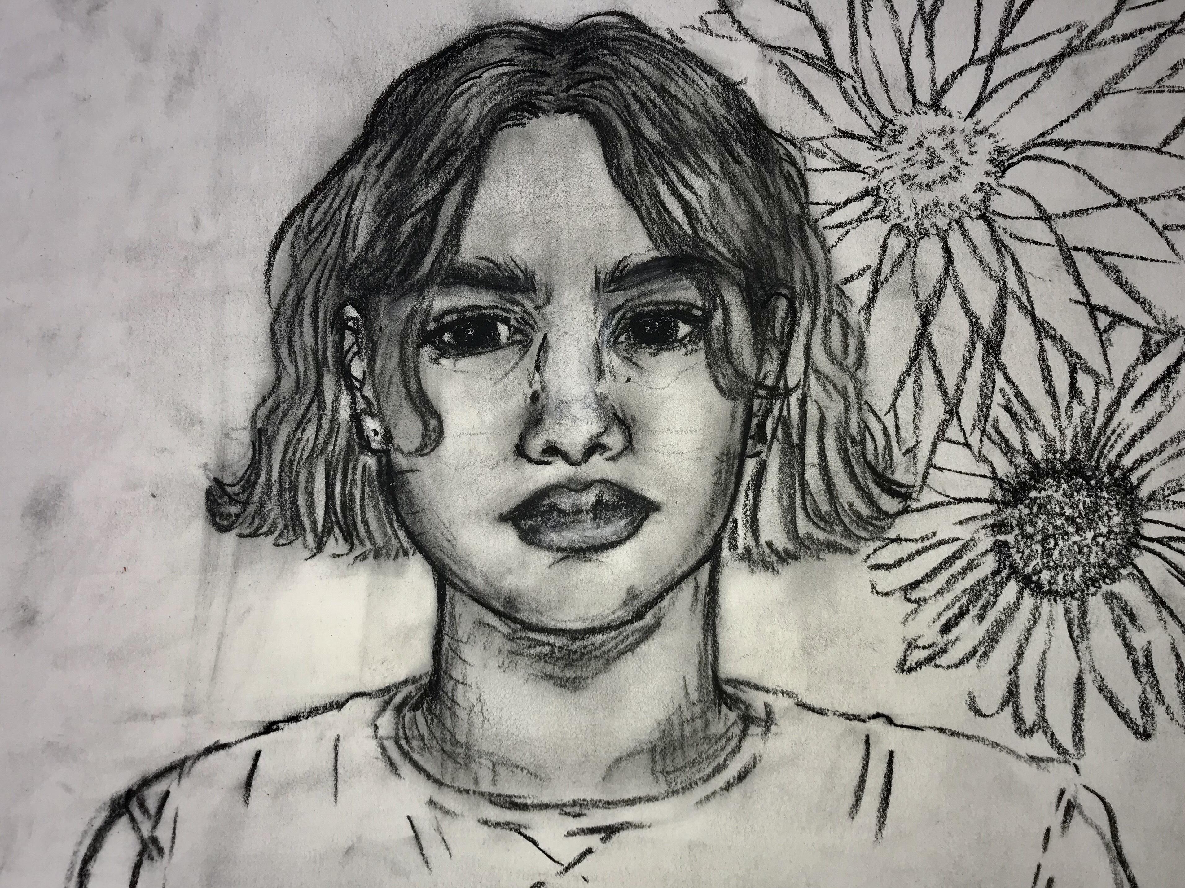 Sara's  first self portrait