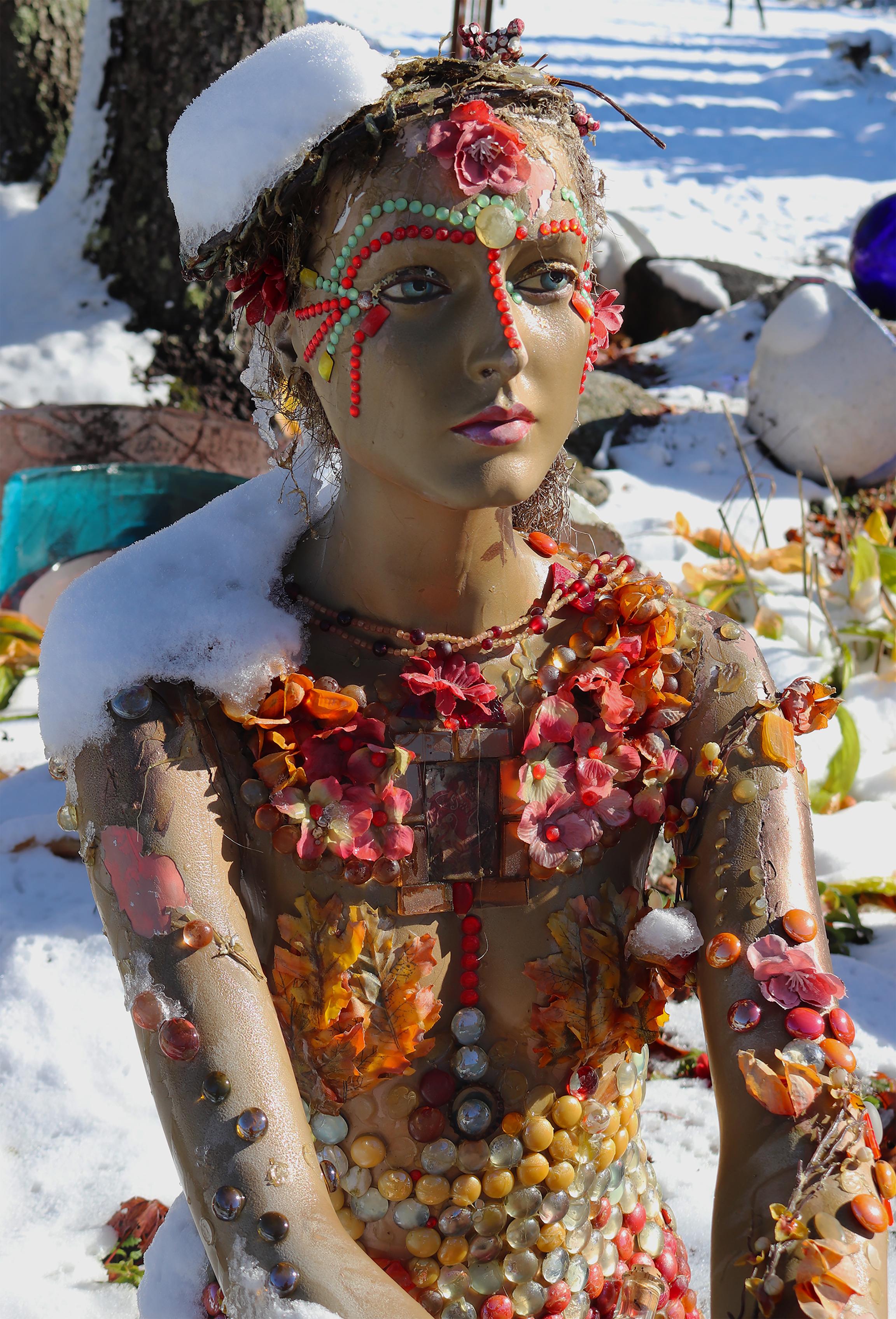 Mannequin in snow