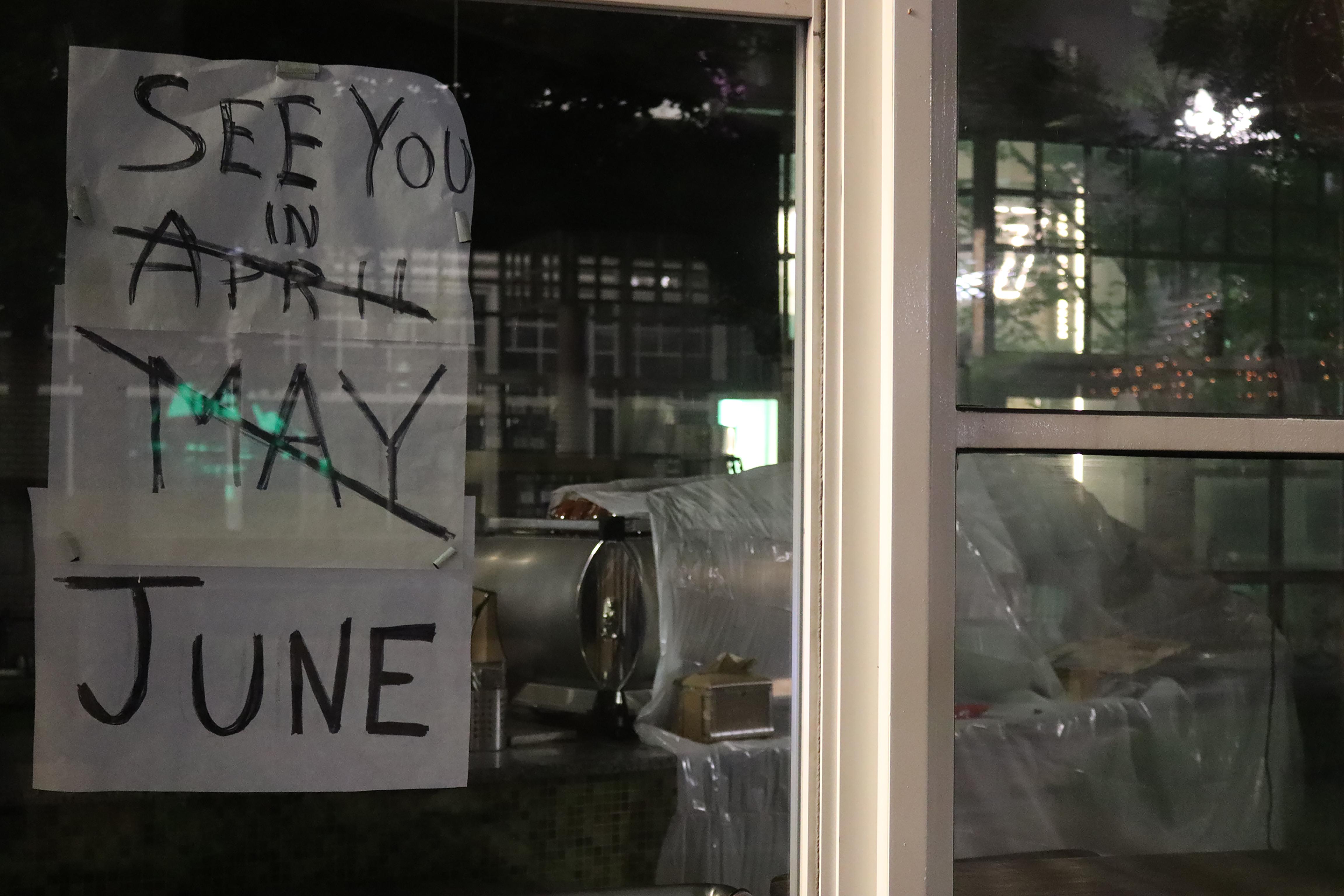 Closed coffee shop in Boston