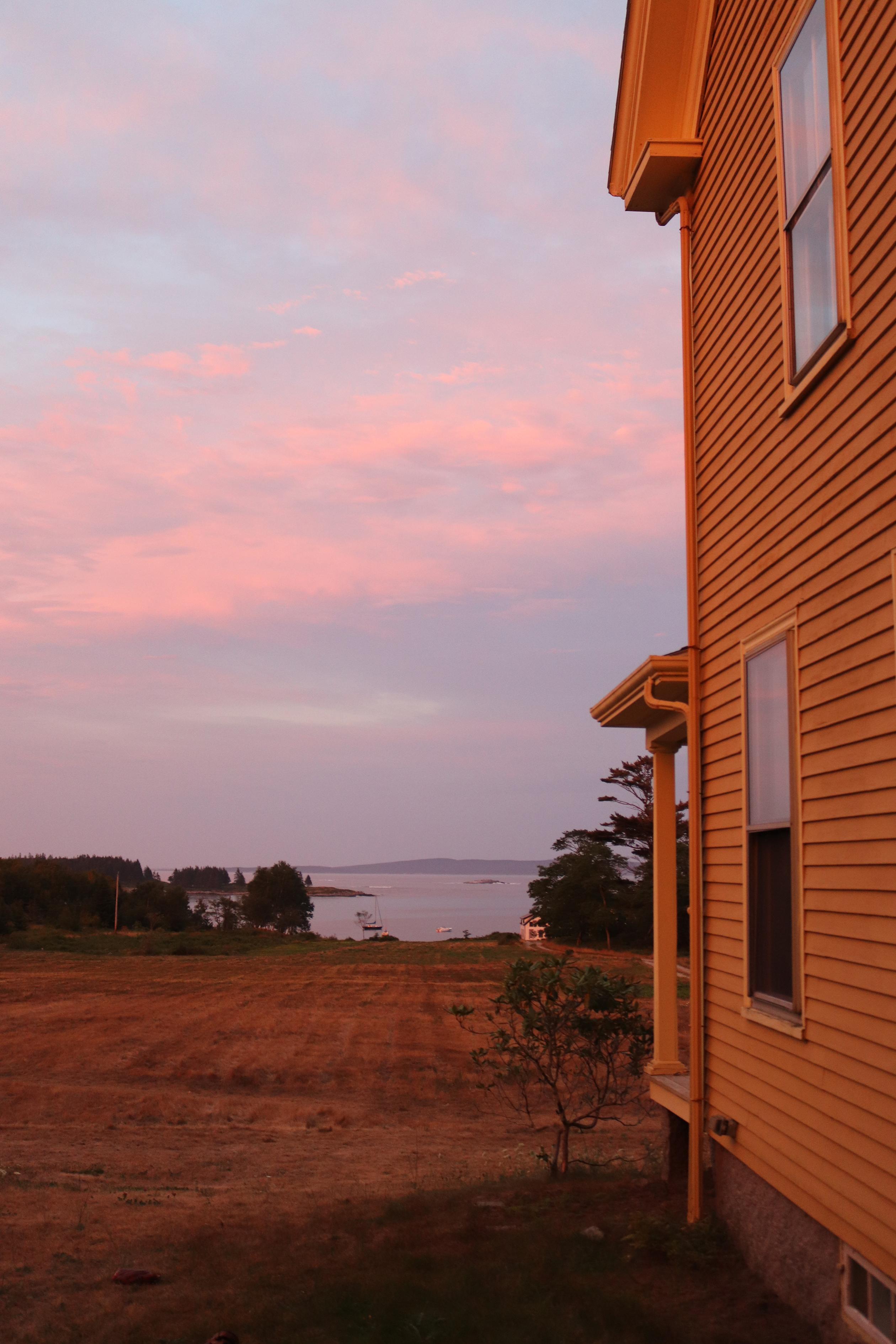 Sunset at the farmhouse