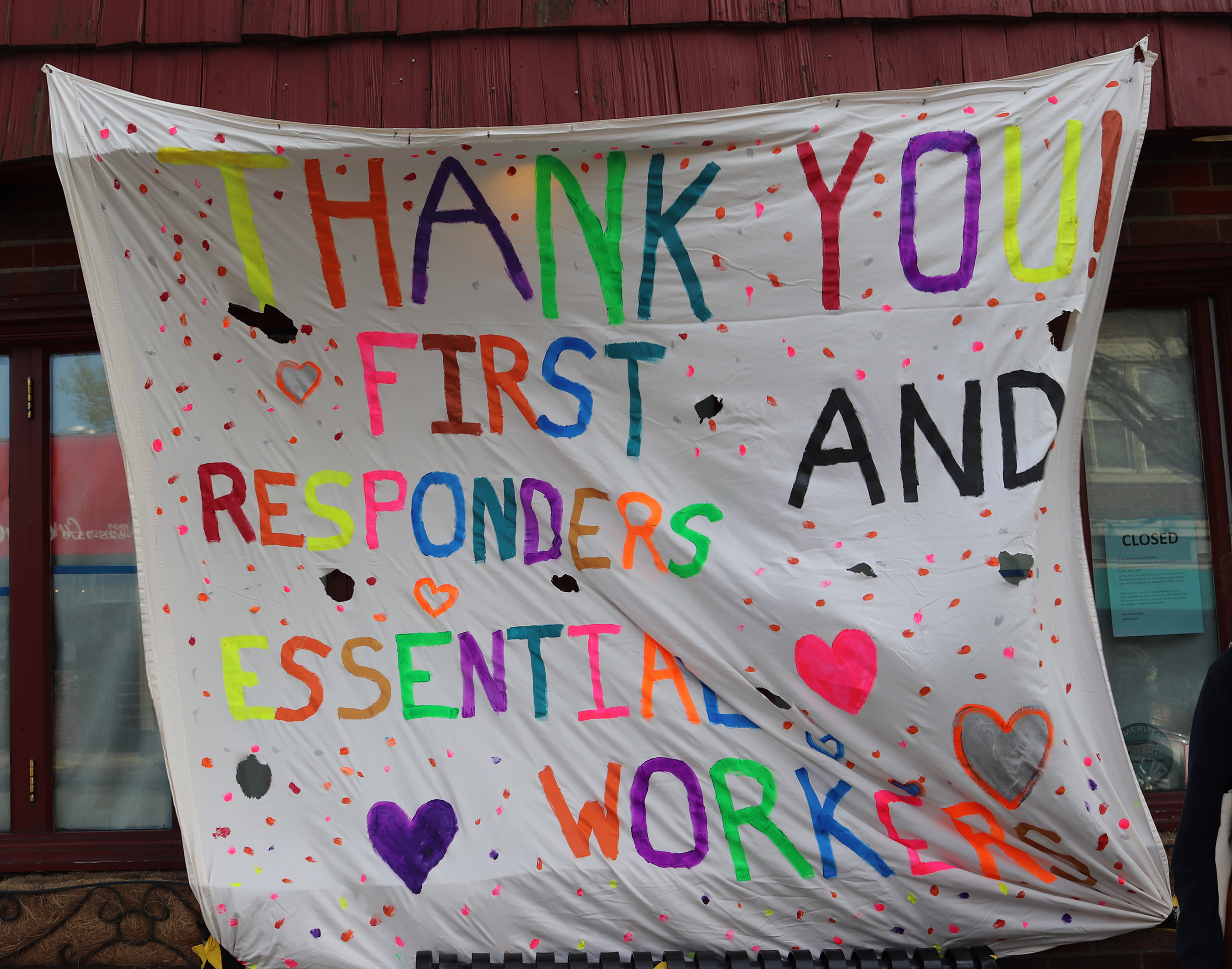 """Thank you! First responders and essential workers"""